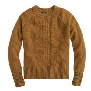 J.Crew Wool pointelle cable sweater, Large
